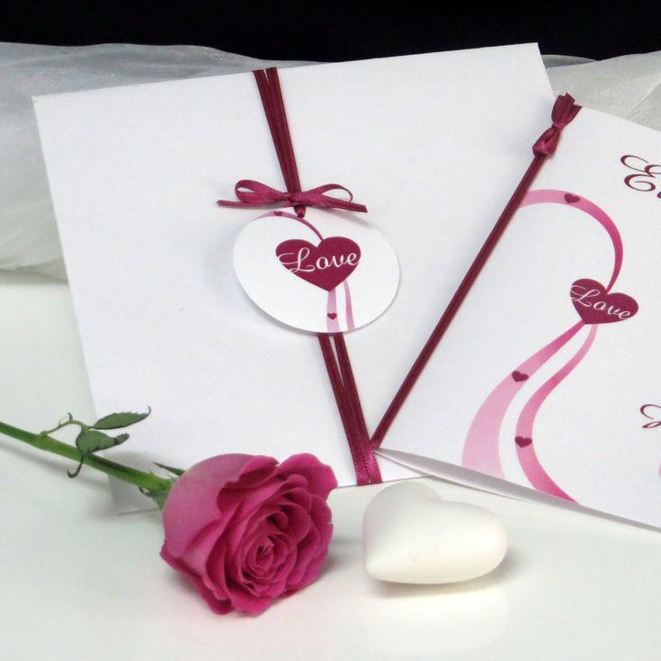 44 besten Hochzeitseinladung pink Bilder auf Pinterest