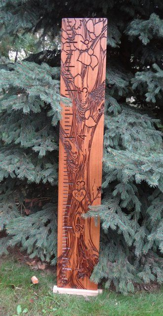 Tree of Life growth ruler crafted from solid beech wood just like the old wooden school rulers. This wooden ruler growth chart is built to last! This