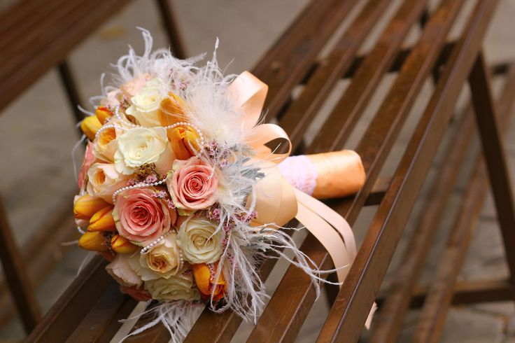 peach orange creme bouquet