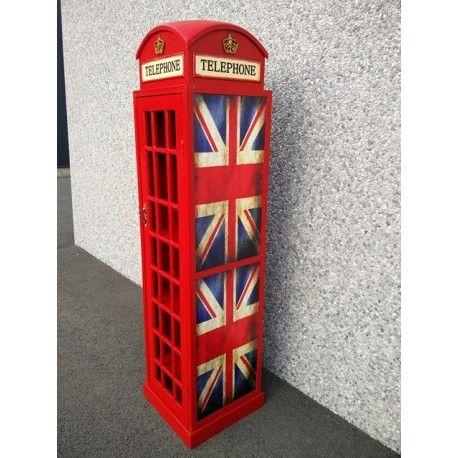 Engelse telefooncel Decoratie Kast