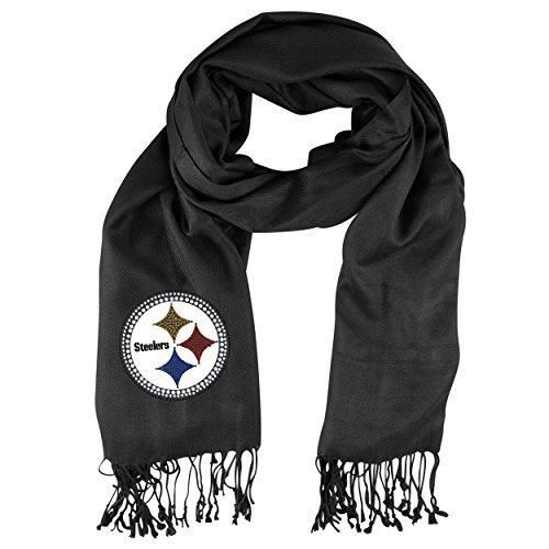 Nfl Steelers Pashmina Scarf 75 X 30 Football Themed Women Apparel Wrap Fashion Accessory Sports Patterned Team Logo Merchandise Athletic Team Spirit Fan Gold Black Blue Red White