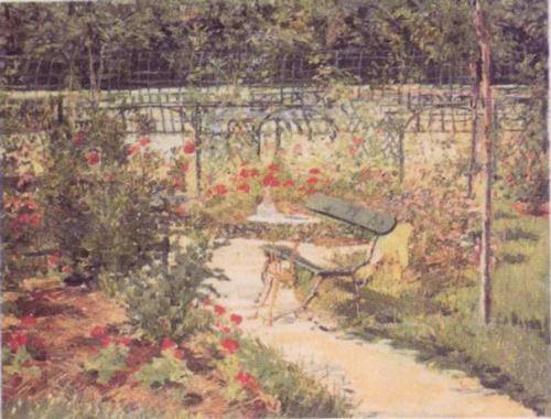 impressionism-art-blog: Bench via Edouard ManetMedium: oil on...