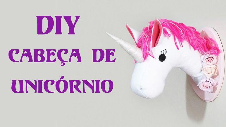 DIY: Como Fazer uma Cabeça de Unicórnio para Decorar seu Quarto (faux taxidermy unicorn head pattern)