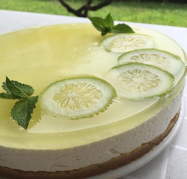 Cheesecake alla vaniglia e lime..