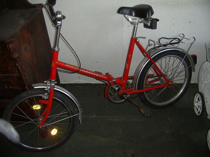 Klappfahrrad DDR MIFA Fahrrad Ostalgie Damenrad Farbe rot zum zusammenklappen