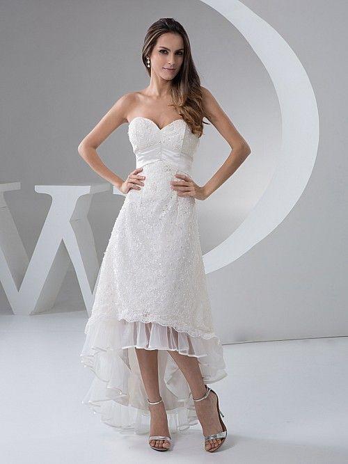 Nichol - Трапеция Кружево свадебном платье с Отделка бисером