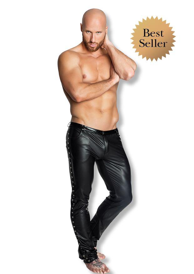 Spodnie męskie H039, Noir Handmade