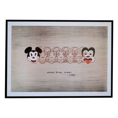 mickey to tiki small framed print - Global Culture