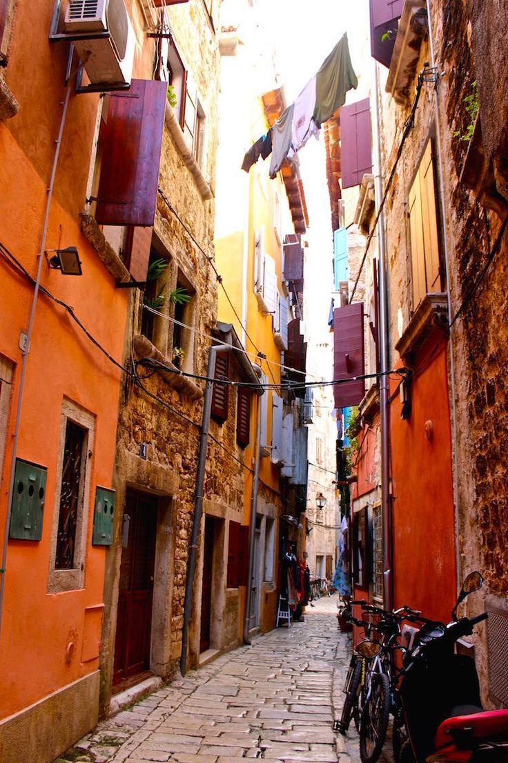 Cobble stone streets in Rovinj, Croatia