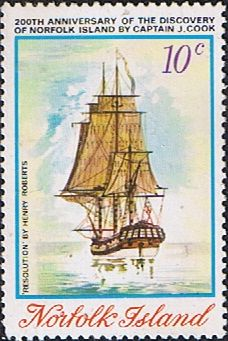 Norfolk Island 1974 Captain Cook Bicentenary Set Fine Mint SG 153 Scott 176 Other European and British Commonwealth Stamps HERE!