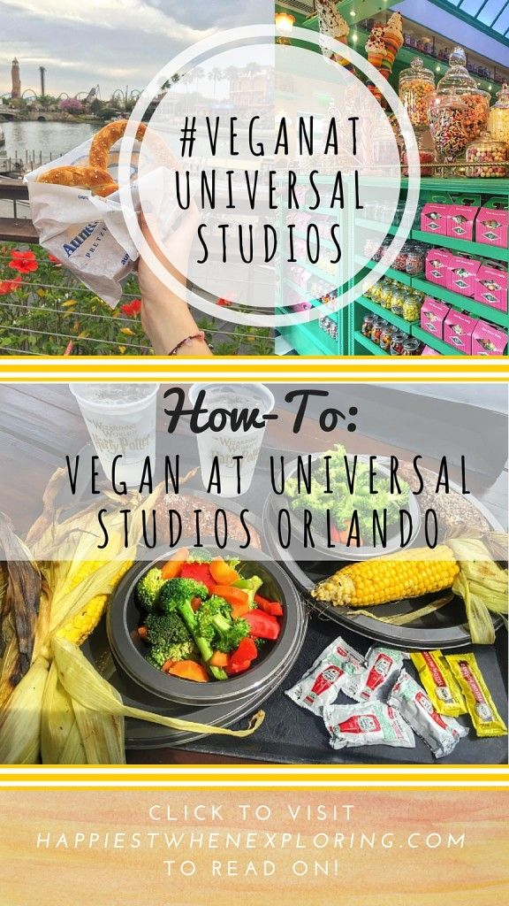 How to: Vegan at Universal Studios, Orlando