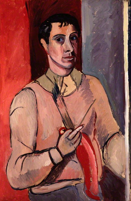 Painting by Edward Wolfe (1897-1982), ca. 1920's, Self-portrait, Oil on canvas.