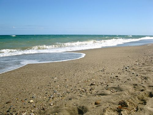 Camino steps in sand in Spain
