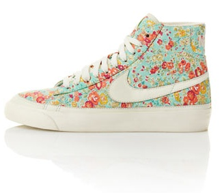 And for spring, Liberty print NIke high tops. So cute! #nike #hightops #springshoes