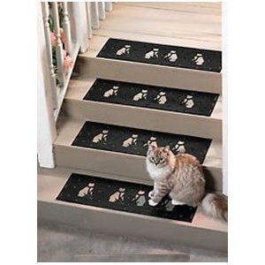 Best Cat Motif Rubber Stair Treads Set Of 2 Stair Tread 400 x 300