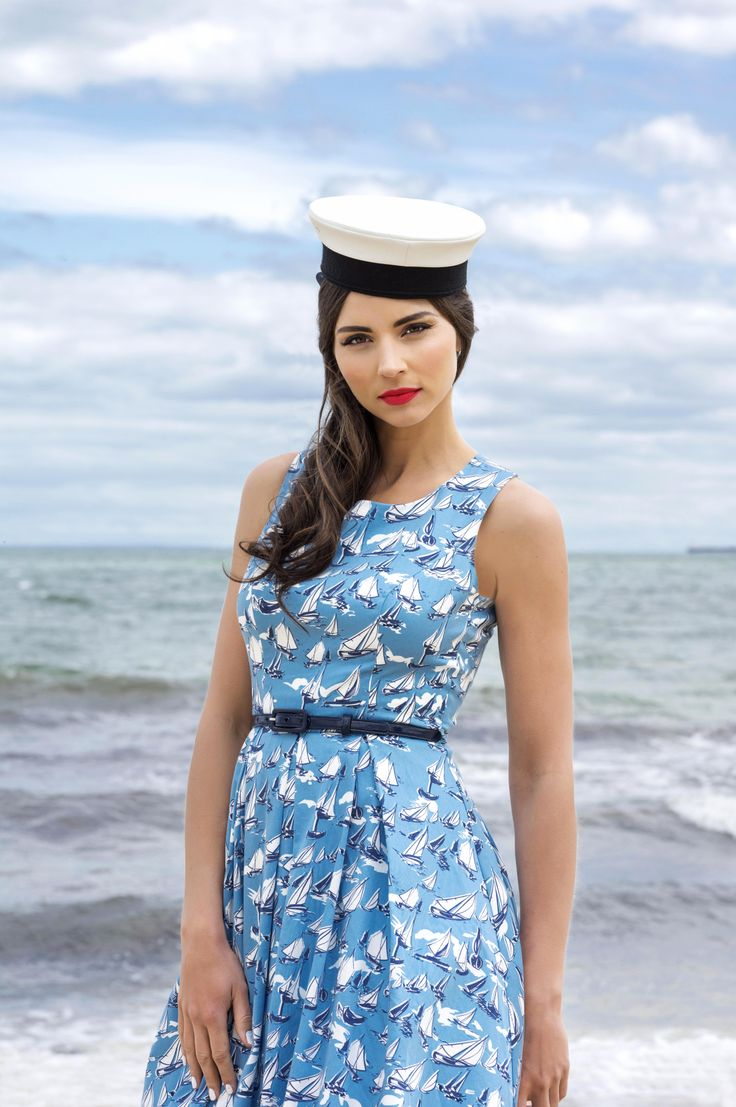 The Sailor Dress from Review $269.95 |   http://bit.ly/1faxhib  #summerbythesea #sailordress #reviewaustralia