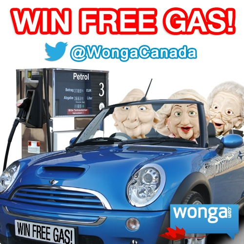 Win $50 in free gas! Follows us & tweet this each week for a chance to win:    @wongacanada Britain's innovative short-term lender is here: http://wonga.com/