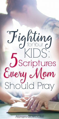 Are you ready to pray war room prayers for your children? We can fight for our children using these war room prayers. Click to read 5 Scriptures every mom should pray for her kids. #warroomprayers #prayingScripture #prayerforkids #prayer
