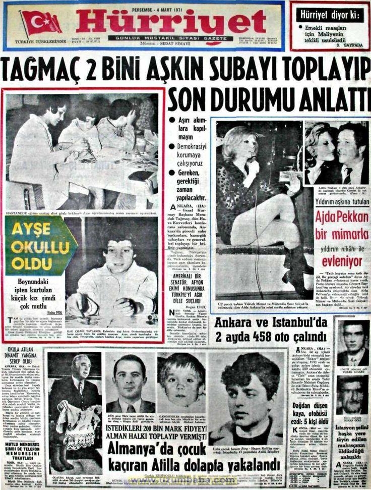 Hürriyet gazetesi 4 mart 1971