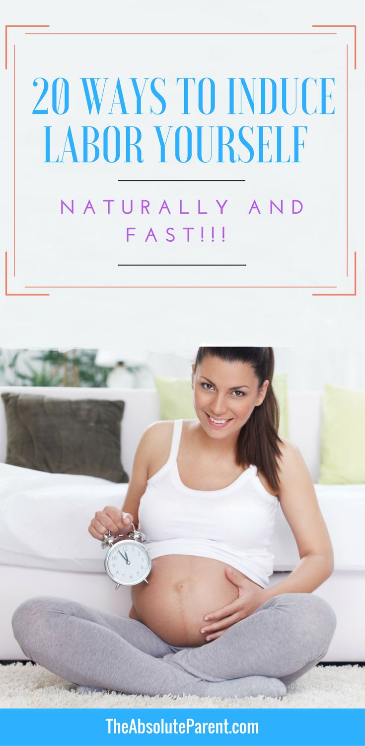 Ways to Induce Labor Yourself Naturally & Fast | Labor Signs Pregnancy | Labor and Delivery Tips | https://theabsoluteparent.com/ways-to-induce-labor-yourself