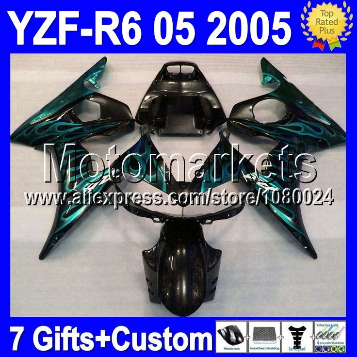Голубой пламя для YAMAHA 05 2005 R6 R 6 2005 голубой пламя черный YZF R6 MS298 YZF-R6 YZF600 YZFR6 R6 R 6 зализа 7 подарки