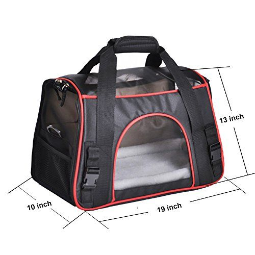 awesome Pet Carrier, PYRUS Airline Approved Soft-Sided Kennel Cab Folding Soft Dog Crate Pet Travel Carrier Bag for Dogs Cats and Puppies