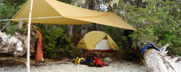 Tarp plus tent set-up