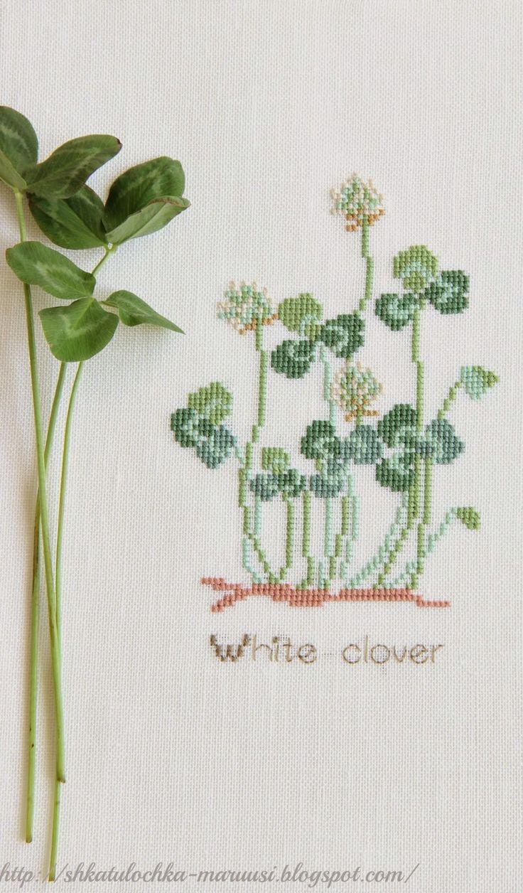 Японские миниатюры: Белый клевер