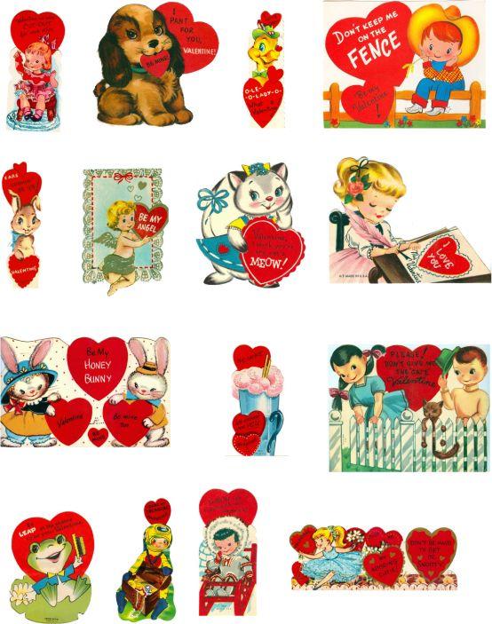 115 best Valentiney Goodness I Love images – Vintage Valentine Cards to Print