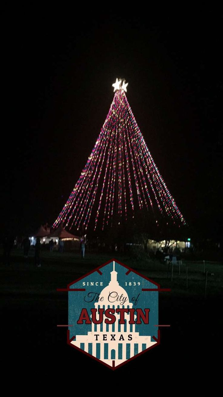 The Christmas Tree at the Trail of lights Zilker, Austin ...