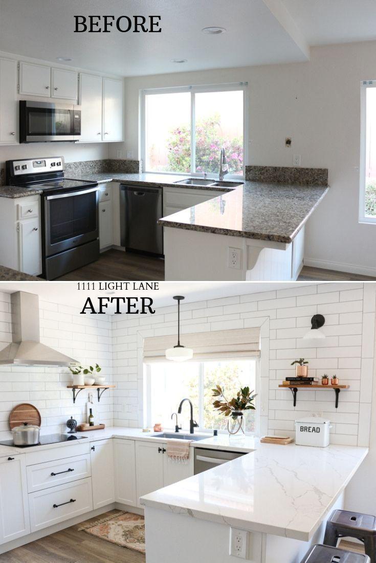 LIGHT BRIGHT IKEA KITCHEN TOUR  White Semihandmade Kitchen ...