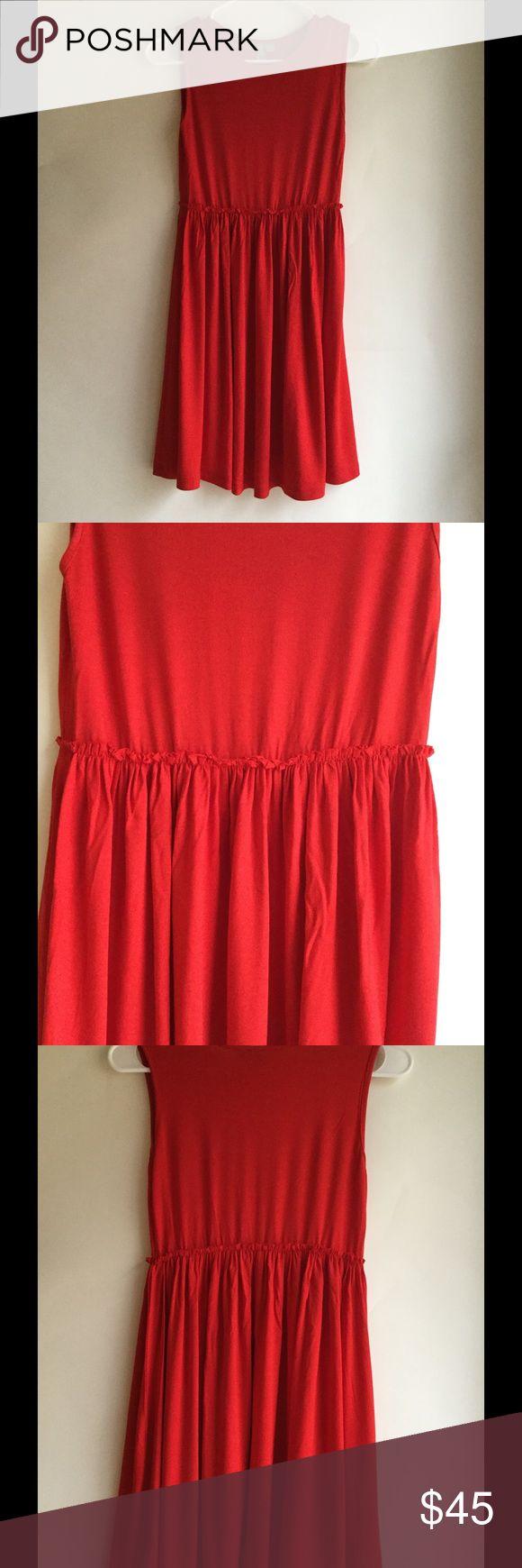 ASOS Red Dress💃 ASOS red dress❗️ super soft❗️worn once❗️ ASOS Petite Dresses Midi