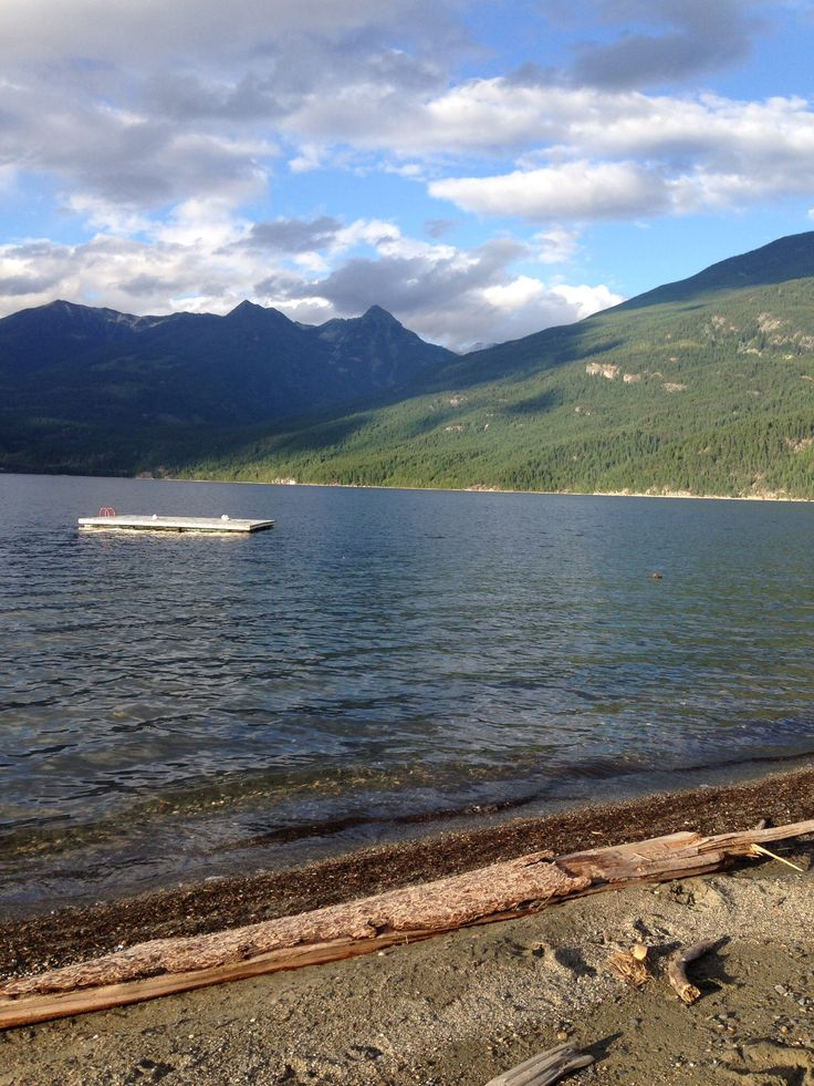 Beach at Kaslo, BC