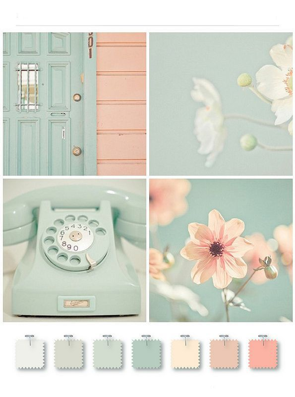 mint and light pink colour palette - Google Search