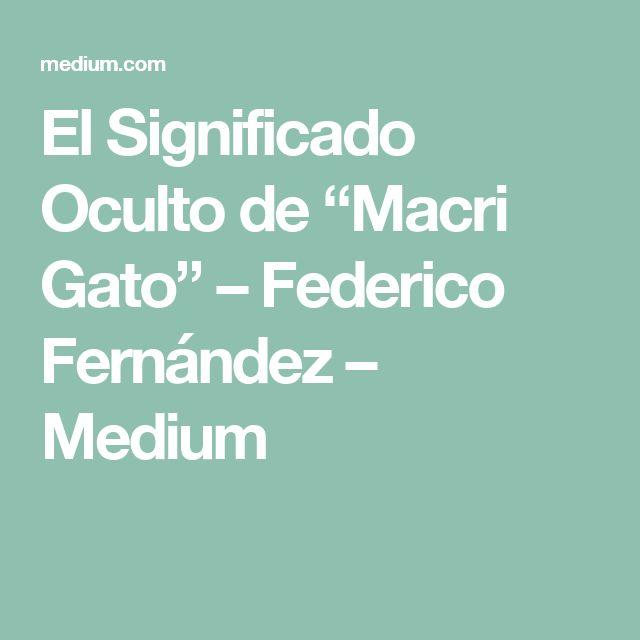 """El Significado Oculto de """"Macri Gato"""" – Federico Fernández – Medium"""