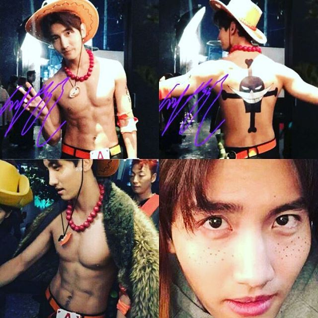 TVXQ ChangMin as Ace from One Piece