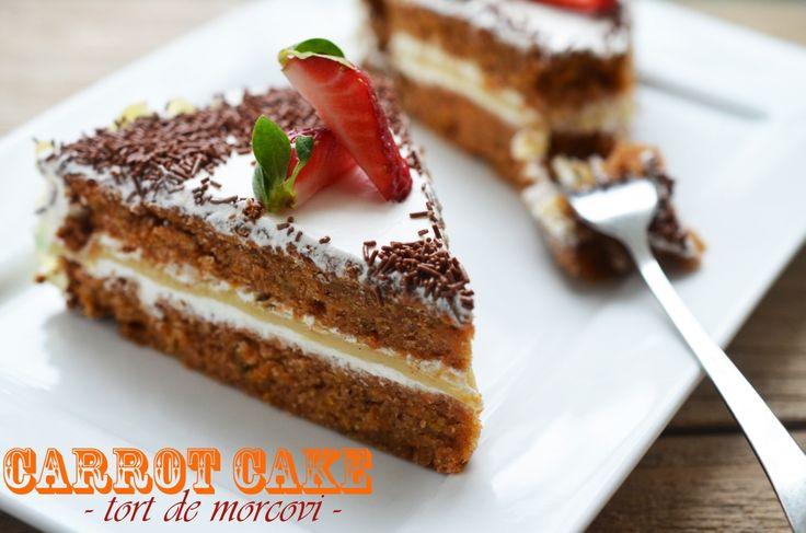 Carrot cake - Tort de morcovi - Retete culinare by Teo's Kitchen