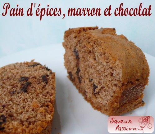 Pain d'épices marron et chocolat