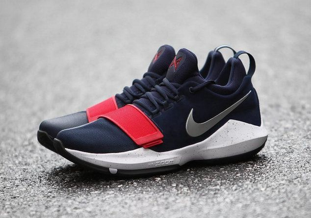 Cool Nike PG 1 USA Red White and Blue Basketball Shoe For