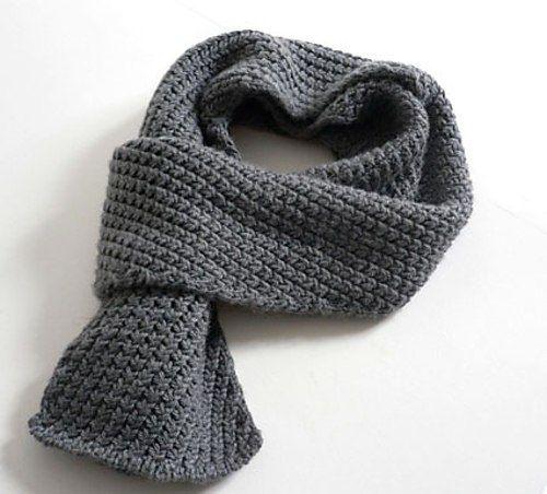 как связать модный и стильный мужской шарф спицами схема и описание