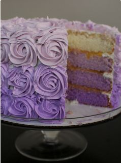 Lilac wedding cake. Follow us on Instagram @ bridemagazine #wedding #inspiration #weddingideas