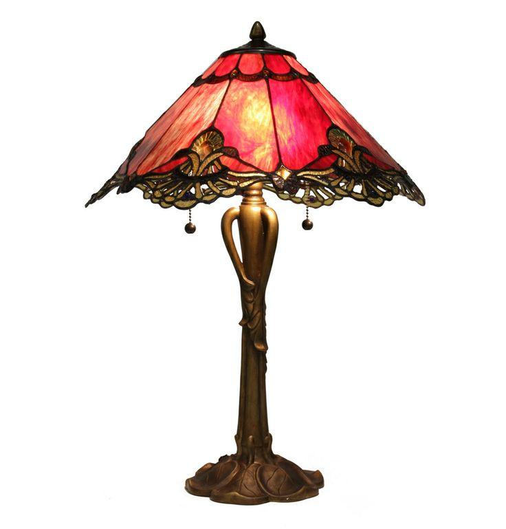 Glass Table Lamps | Majorelle Stained Glass Table Lamp - Matt Blatt