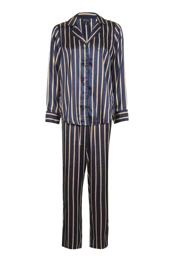 Satin Stripe Pyjama Set