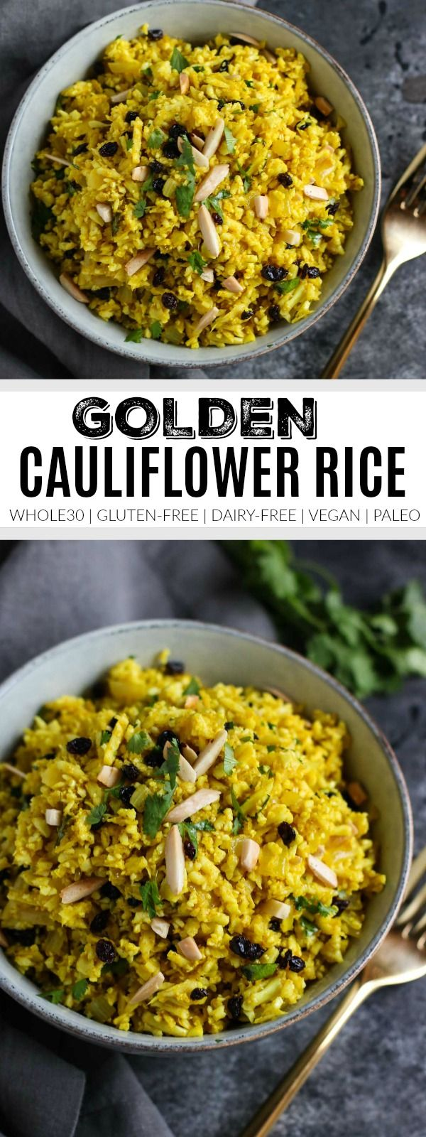 Golden Cauliflower Rice - The Real Food Dietitians