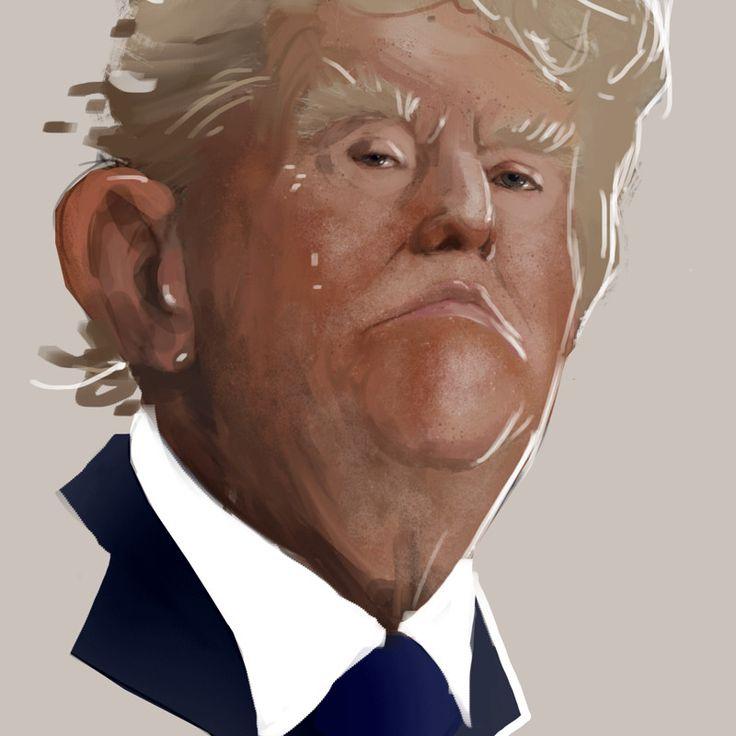 #caricature #digitalart #digitalpainting #donaldtrump #portrait #trump #trump2016
