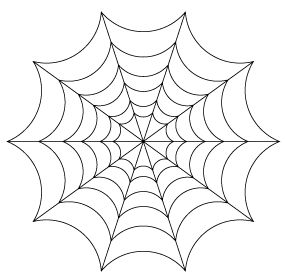 Illustrator Tutorial: Halloween Spiders and Webs, Part 1: Spinning the Web: Spider Web - Finishing the Web