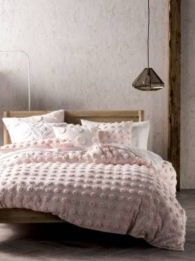QUILT COVERS HAZE PINK QUEEN QUILT COVER SETS