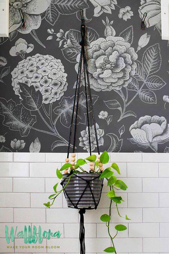 BLACK FRIDAY 30% OFF Garden Rose and Hydrangea by WallfloraShop