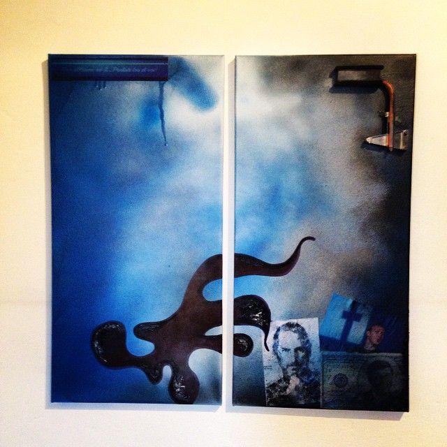 """""""Ribellione artistica #3"""" 60x60 (tecnica mista su doppia tela)"""