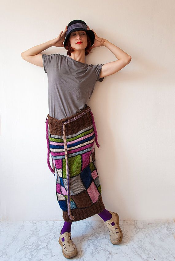 Women's Skirt, Long Checkered - Pink, Magenta, Brown, Ready for Shipping